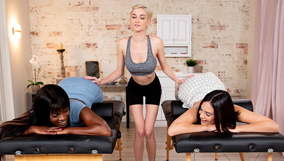 Ana Foxxx, Violet Starr, Skye Blue - Bolster For Two [All Girl Massage] - March 27, 2021