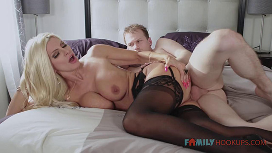 Brittany Andrews - Big tit blonde milf Brittany Andrews gets railed by her stepson during the pandemic [Family Hookups] - January 25, 2021