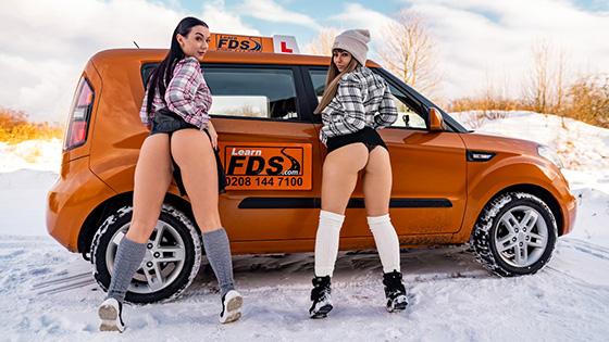Dominno, Lady Gang - Stuck Between Snow and Big Tits [Fake Driving School] - May 26, 2021
