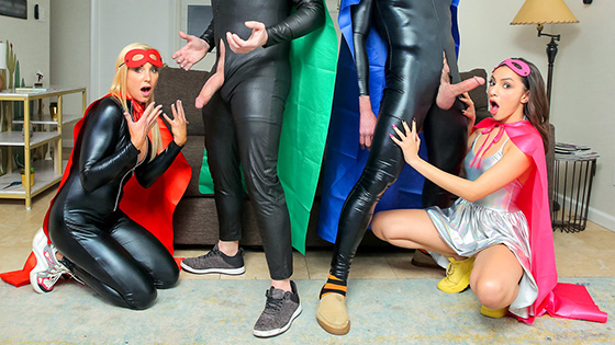 Hime Marie, Sophia West - When My Swap Family Does A Super Hero Event [Family Swap] - April 29, 2021