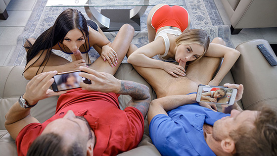 Jazmin Luv, Anna Claire Clouds - Swap For Extra Cash [Daughter Swap] - August 15, 2021