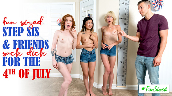 Jessie Saint, Lulu Chu, Madi Collins - Take Your Fun Sized Sister And Her Friends To The Amusement Park For Fourth Of July [Step Siblings Caught] - July 14, 2021