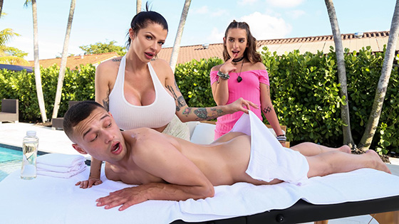 Joslyn James, Bailey Base - Why Don't We Tag Team Your GF? [Milfs Like It Big / Brazzers] - July 4, 2021