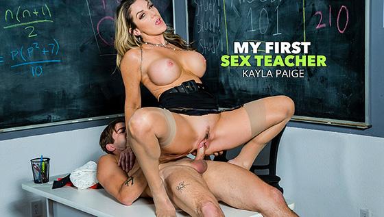 Kayla Paige - My First Sex Teacher [My First Sex Teacher / Naughty America] - January 8, 2021