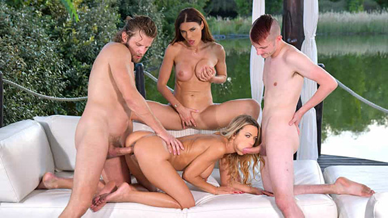 Kitana Lure, Shalina Devine - Risque Romanian And Russian Cougars Seduce Young Dudes [Hands On Hardcore / DDF Network] - February 22, 2021