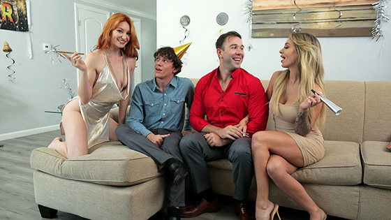 Lacy Lennon, Madelyn Monroe - Swap Daughters New Years Resolution [Family Swap] - December 24, 2020