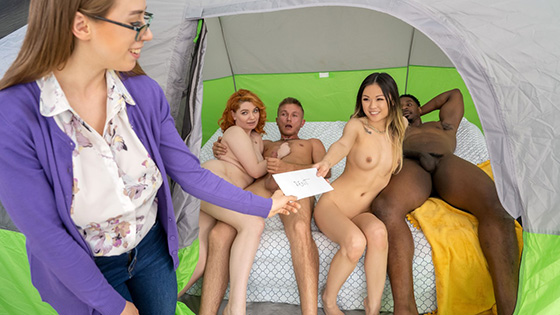 Lulu Chu, Annabel Redd - Tag Teaming The Glampers [Brazzers Exxtra / Brazzers] - July 7, 2021