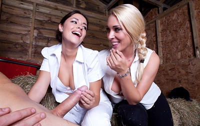 Ava Dalush, Victoria Summers - Riding the Stable-Boy - May 19, 2015
