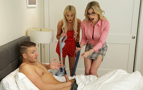 Cory Chase, Tallie Lorain - Mom His Dick Is Stuck In A Vacuum Cleaner [Moms Teach Sex / Nubiles Porn] - June 2, 2020