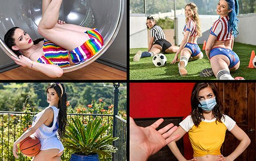 Angelica Cruz, Gia Derza, Paisley Paige, Zoe Sparx - Best Of March 2020 Compilation [Team Skeet] - May 7, 2020